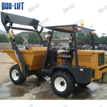 Mini crawler self-loading mini bin dumper