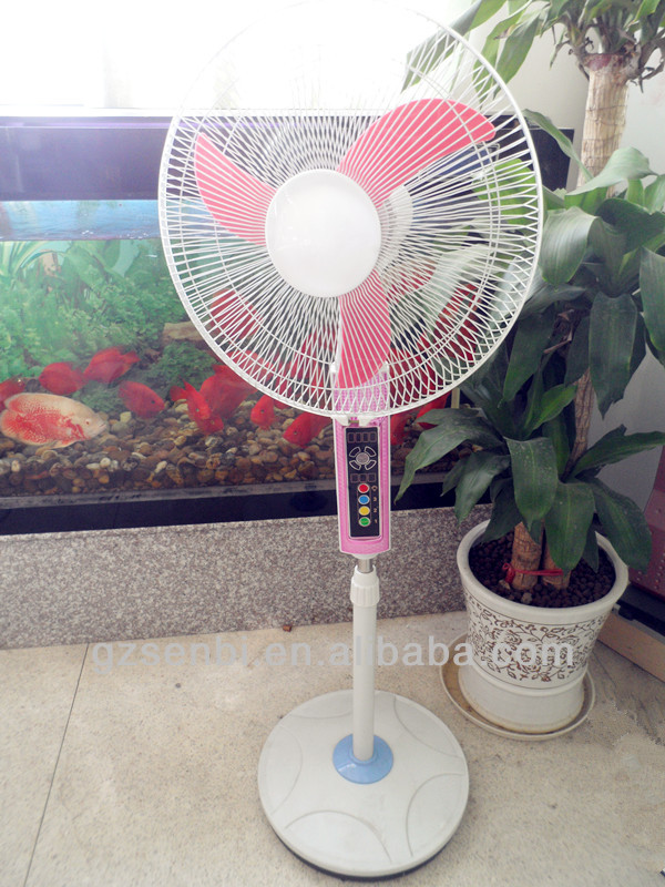16inch energy saving solar ac dc rechargeable fan for home