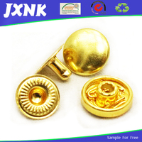 outlet golden metal prong snap fastener for coat