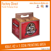 professional design 6 bottle box pack carrier box packing