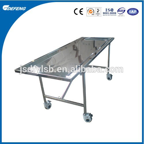 Stainless Steel Foldable Funeral Embalming Table