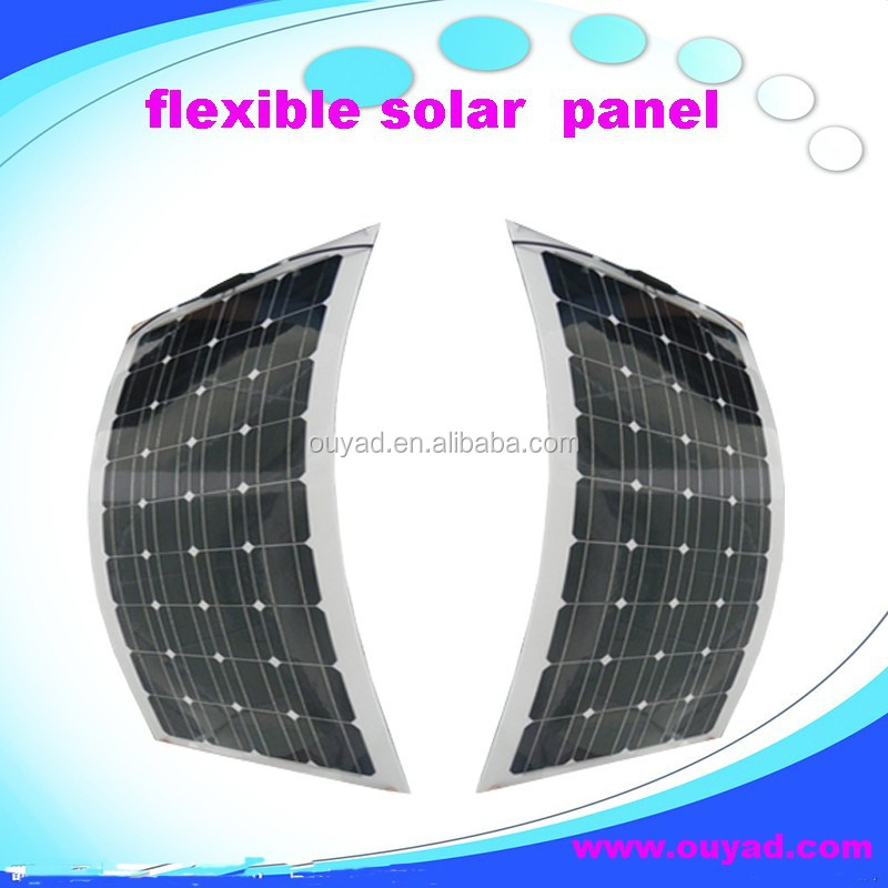 Hot sales low price semi flexible solar panel l00w/solar module with complete system