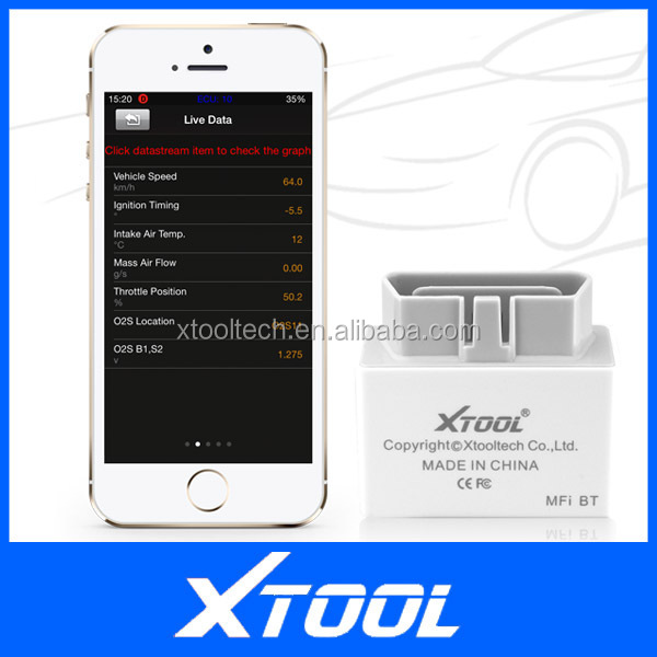 XTOOL Apple Verified Bluetooth iOBD2 OBDII/EOBDII/CAN BUS Code Scanner Trouble Code Reader Reset Check Engine Light
