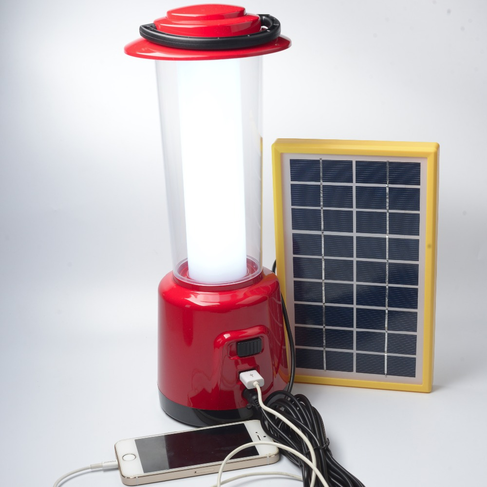 Factory price household rechargeable emergency lighting portable LED lantern with solar panels