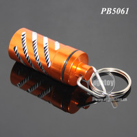 Fancy Orange Color Waterproof Aluminum Metal Pill Case