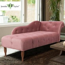 Jennifer Taylor Hot Design Fabric Sleeping Sofa Bed, Upholstery Tufted Botton Velvet Chaise Lounge