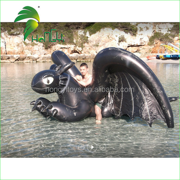inflatable black toothless dragon (3)