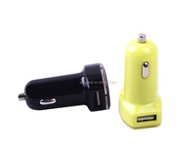 Cheap wholesale colorful dual USB Car charger for iphone Promotional custom electric car charger usb 2.1 a