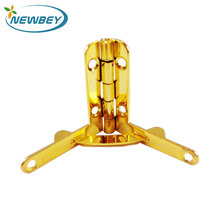 Shinning Gold Wood Jewelry Box Hinge Small Quadrant Hinge For Wooden Box