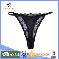 Comfortable Plus Size Lace Flower Hot Sexy Photo Ladies Thong G-String