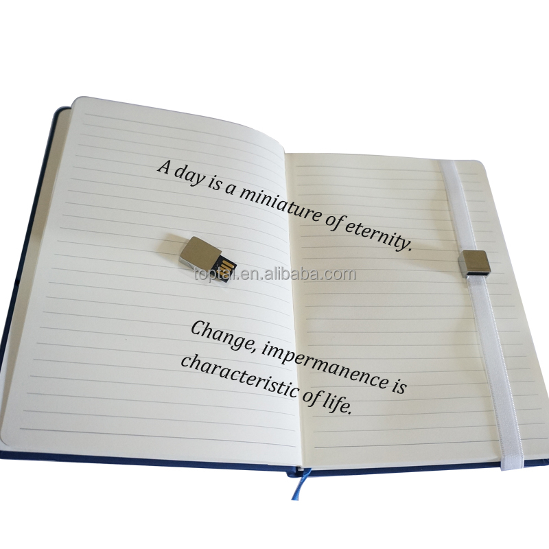 New fashion multifunctional leather notebook USB flash drive 4.0 notebook stick memory usb pendrive notebook