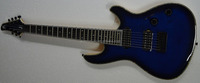Dimond blue flamed top mayones electric guitar 7 string