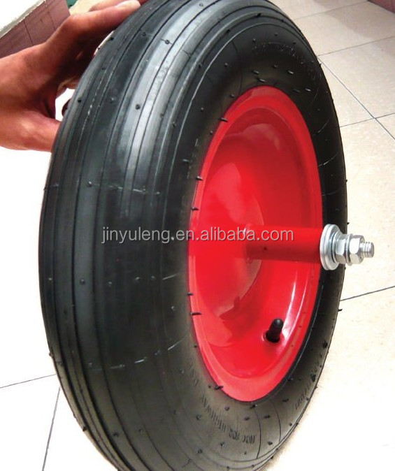 high quality wheel barrow wheel 4.00-8 for wheel barrow ,hand truck,trolley,