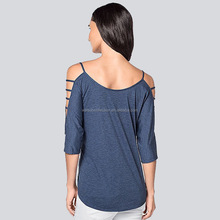 walson 2016 spring new design fashion clothes strapless blouse plain color t-shirt for women