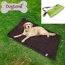 China factory Wholesale Portable Medium Large Dog Travel Blanket soft Foldable waterproof pet dog bed