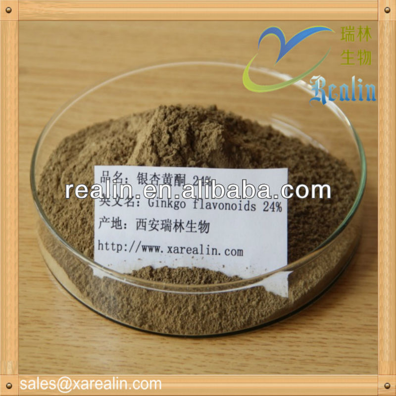 100% Natural Ginkgo Leaf P.E.,Ginkgo Biloba Extract,Ginkgo Extract