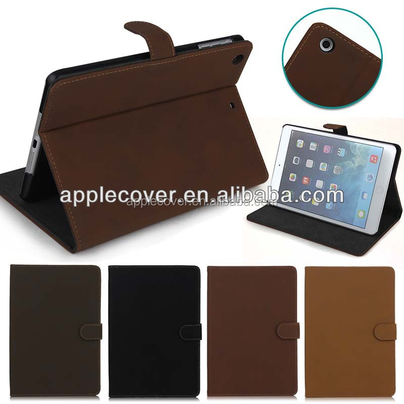 Retro Design Case For iPad Mini 1 2 3 , for i Pad Mini cover case , leather case for tablet