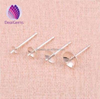 Jewelry findings 925 sterling silver earring cap pin for jewelry making