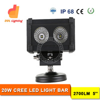 best selling car accessories 5'' 20W single row driving led light bar for jeep offroad