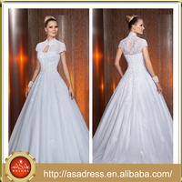 V21 Princess Style Sweetheart Neckline Bridal Dress Ball Gown Full Length Wedding Dress Supplier with Jacket for Weddings