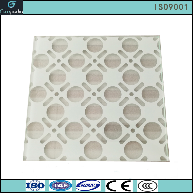 8mm ultra white laminated tempered ceramic frit glass, laminated glass with stained, decorative building glass price per m2
