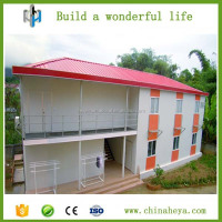 2016 popular light steel frame prefabricated 2 storey villa