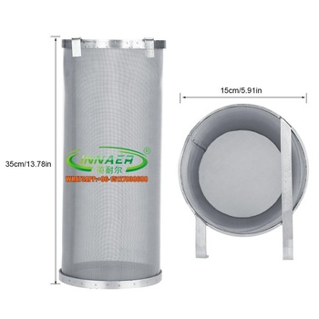 Stainless Steel Mesh Dry Hopper Brewing Filter Tea Kettle Brew Filter for Homebrew of Beer Wine Coffee (6 x 13.8)