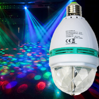 Austrial 3W Rotating Strobe LED Crystal stage light for Disco party club bar DJ ball Bulb Multi RGB changing Color light