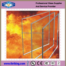 China supplier of fire proof heat resistant tempered fireglass