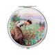 epoxy compact mirror metal desktop countertop makeup mirror small pocket mirrors