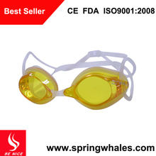 CE approved cheap swim goggles with anti-fog PC lens