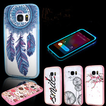 Hot selling led phone case for Samsung Galaxy S7 PC TPU cell phone case