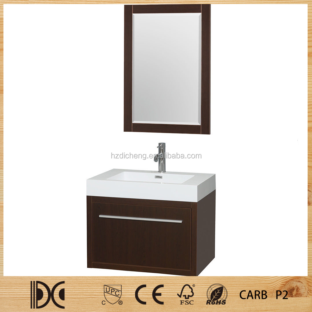 Single Sink Modern Design Knock Down Mirrored Cheap Bathroom Wall Cabinets