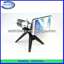 Newest! 12xOptical Zoom Mobile Phone Telescope Lens +Plastic Tripod + Back Case for Samsung Galaxy Note 2/N7100