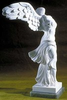 outdoor garden decoration marble stone headless sculpture with winged
