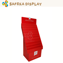 Custom Printed Collapsible Display Rack Promotion Gift Card Display Stands for Christmas Cards