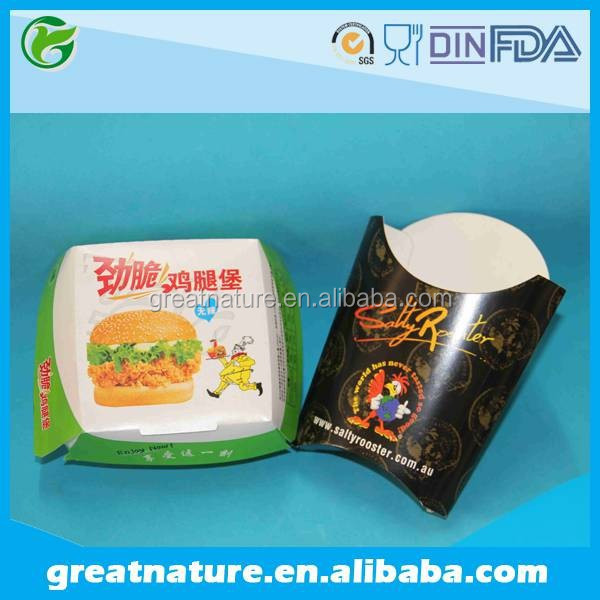 Grease proof french fries packaging box