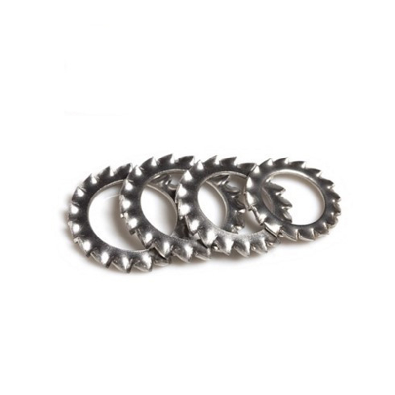 Customized Stainless Steel 304 316 Serrated Safety Washer External Tooth Lock Washer