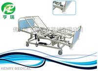 ICU hospital folding bed 5 movements electric medical care nursing bed