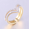 Latest Designs Couple Ring Gold Plating