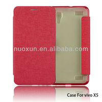 Newest design high end pu leather cell phone case for vivoX5
