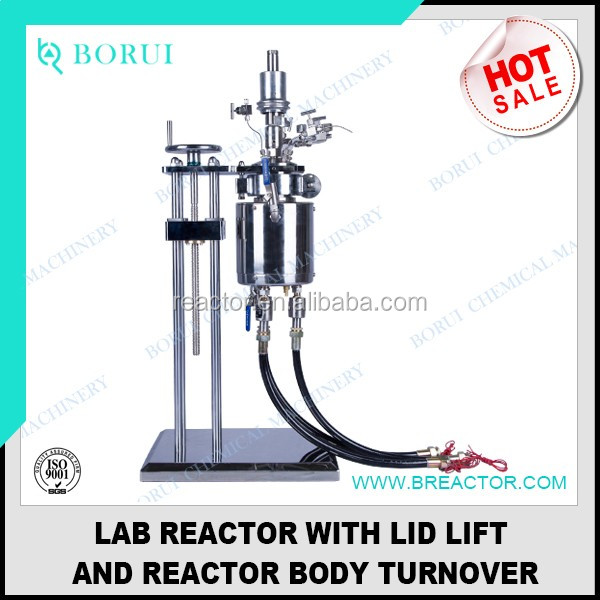 500ml high quality stainless steel chemical reactor with jacket