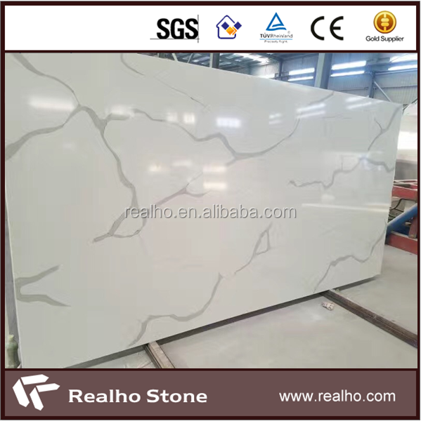 Chinese Artificial Marble Calacatta Quartz Gold Stone Sheets