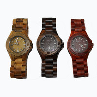 Japanese Movement Factory New fashion sandal wood watch