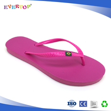 Comfortable and simple design brazil flip flop platform high heel slippers for women fuxia color shoes women wege