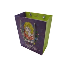 Custom Printed Gift Packaging Christmas Paper Bag With PP Handle