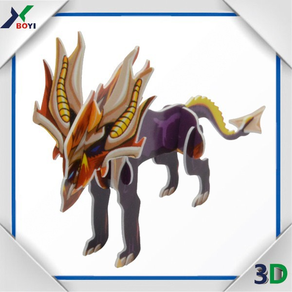 wholesale dinosaur 3d jigsaw puzzle gratis,custom toy plastic 3d puzzle game for kids