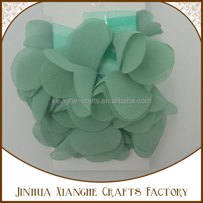 Wholesale garment accessories lace ribbon flower embroidery fabric decorations