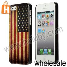 National Flag Pattern Retro Shell Back Cover Hard Case for iPhone 5S iPhone 5 (12 Designs Optional)