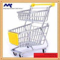 2 tier Mini supermarket handcart shopping utility cart mode desk storage toy